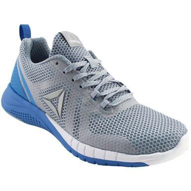 626da0554a1 Reebok Print Run 2 Running Shoes - Womens Grey Blue Blue White