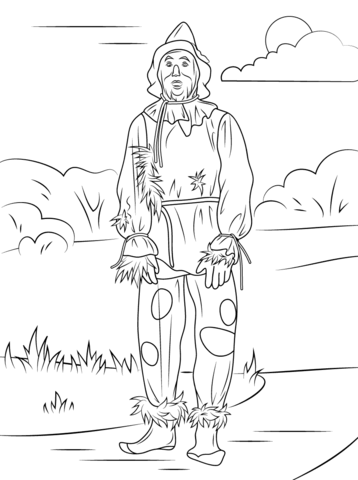 Wizard Of Oz Scarecrow Coloring Page Wizard Of Oz Color Scarecrow Coloring Pages Free Printable Witch Coloring Pages