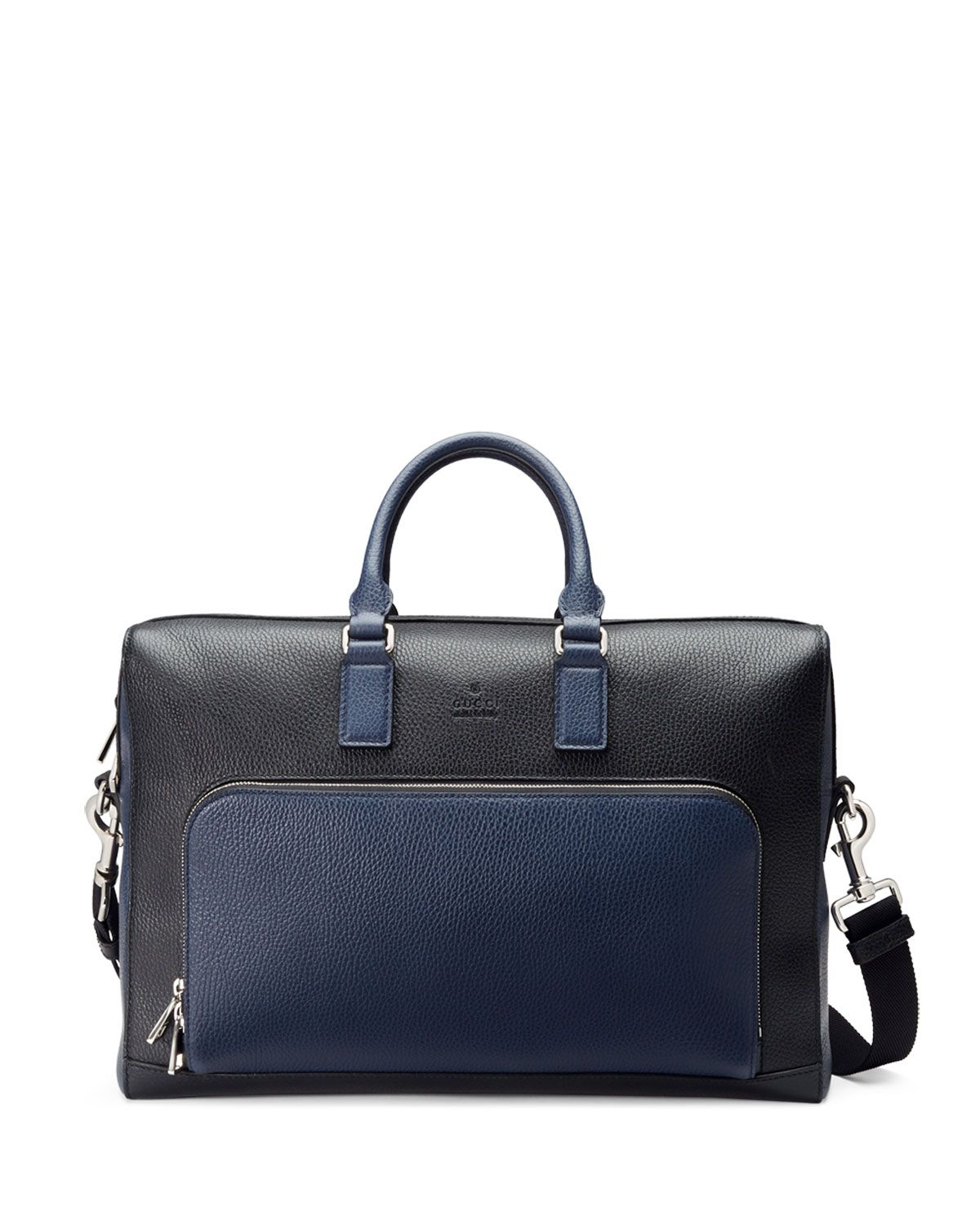 25d94ccaa2e2 Cosmopolis Leather Briefcase Black/Blue | *Luggage & Bags ...