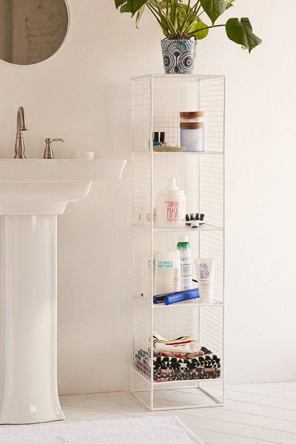Slim Perforated Metal Storage  Bath  Shower  Pinterest Enchanting Small Bathroom Cart Decorating Design