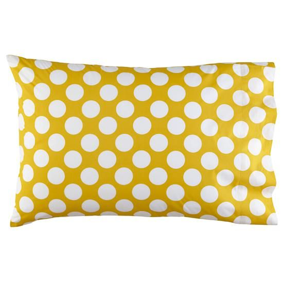 Polka Dot Pillowcases Endearing New School Yellow Wwhite Dot Pillowcase  For Him Shared Bedroom Review