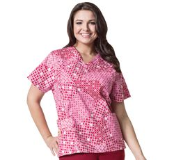 e2fa040a84a Wonderwink Plus Sized Ring True Curved V-Neck Top | Plus Size Scrubs ...