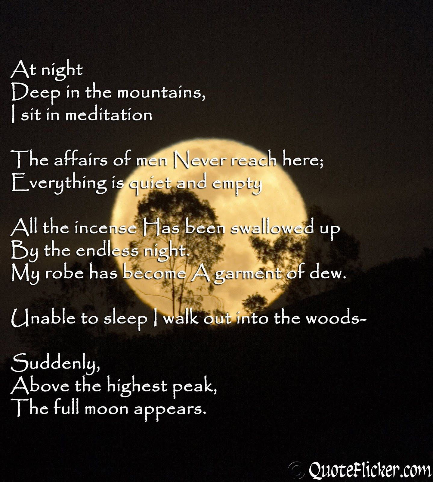 Moon Sayings Quotes Collection The full moon appears