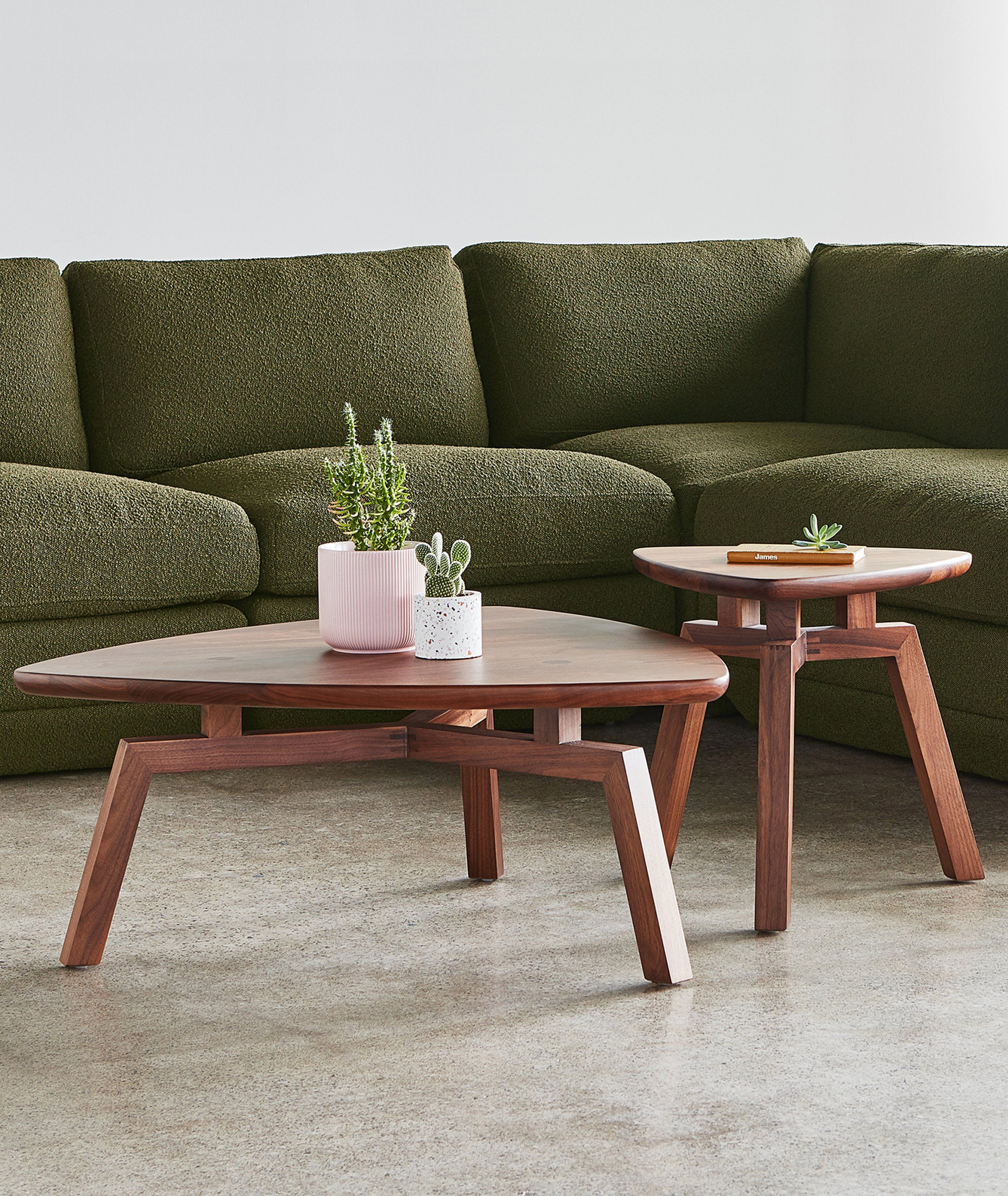 Solana Triangular End Table 2 Colors Coffee Table Contemporary Furnishings Wood Coffe Table [ 2821 x 2377 Pixel ]
