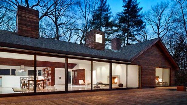 Gaaf modern huis dat perfect mengt met de bosrijke omgeving - qu est ce qu une maison bioclimatique