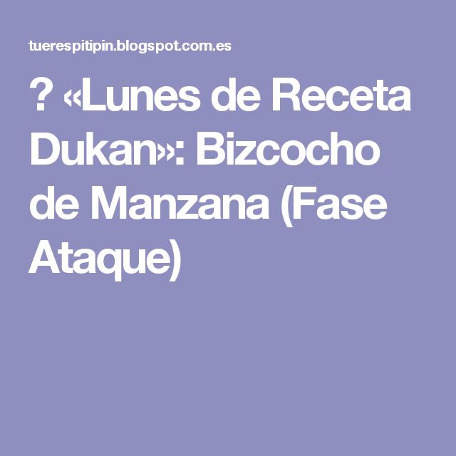 ☼ «Lunes de Receta Dukan»: Bizcocho de Manzana (Fase Ataque)