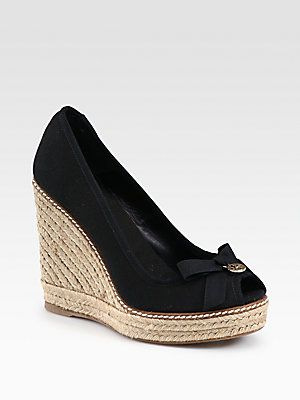 2f345fd33bce60 Tory Burch Jackie Canvas Espadrille Wedges. A must for summer!