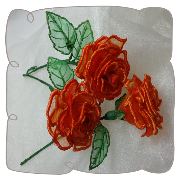 how to make organza roses video