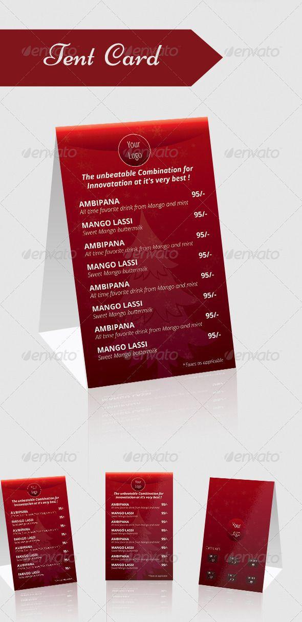 Tent Card Menu Tent Cards Menu Printing Restaurant Menu Design