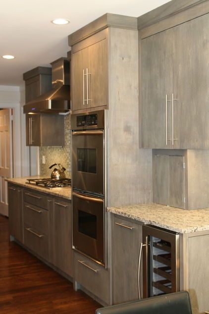 Gray Stain On Birch Love Staining Cabinets Kitchen Cabinet