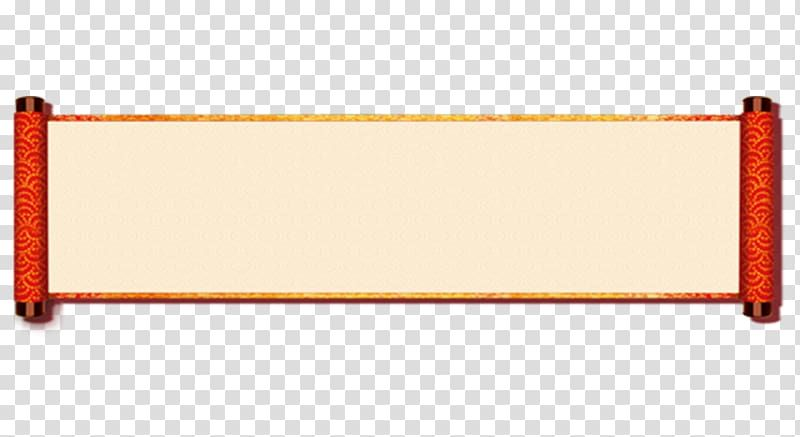 Orange And Beige Scroll Chinese New Year Free New Year Scrolls Border To Pull Material Transparent B Vintage Paper Background Transparent Background Clip Art