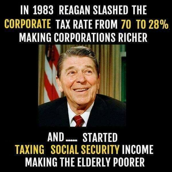 Re Reagan stole Trillions from Seniors Earned Social Security - social security change of address