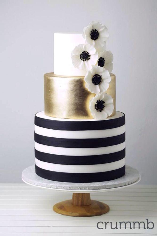 39 Black And White Wedding Cakes Ideas Wedding Forward Black And Gold Cake White And Gold Wedding Cake Cake