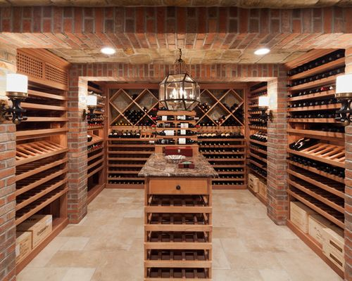 Old World Charm Meets Contemporary Woodwork In This Spacious Wine