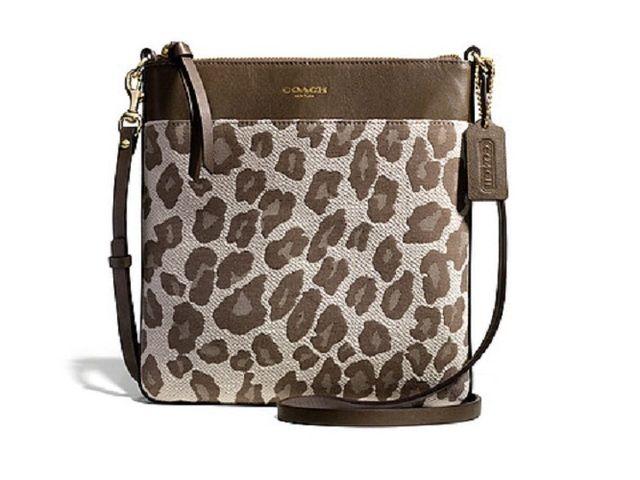 387e8f351b8b COACH Madison Jacquard Ocelot North South Swingpack. Starting at  20 on  Tophatter.com · Women s HandbagsCheap ...