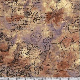 45 wide old world map tan fabric by the yard steampunk 45 wide old world map tan fabric by the yard gumiabroncs Gallery