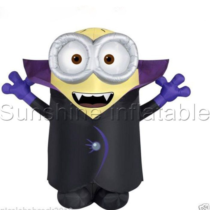2016 newest 3m giant halloween theme inflatable minion for halloween