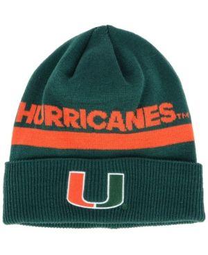 ab15144f944 adidas Miami Hurricanes Coaches Cuffed Beanie - DarkGreen Adjustable ...