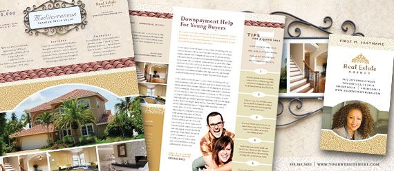 Luxury Real Estate Newsletters, Postcards, Flyers and Stationery ...