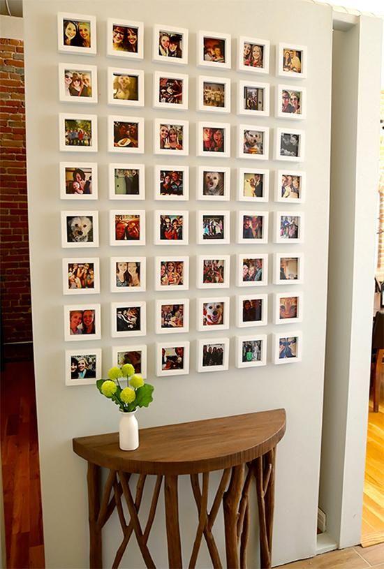 10 façons inspirantes de décorer avec des cadres photos Gallery