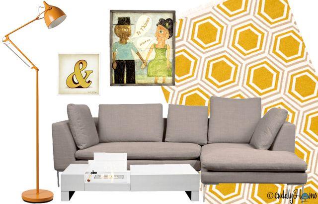 Grau und Weiß sind für sich schon eine unschlagbare Kombi, doch ab sofort mischt auch noch Gelb mit: Für den Extra-Frischekick, für bewundernde Blicke angesichts so viel Stilgefühl! // #Design #Einrichtung #Interior #Moebel #Wohnaccessoires #Dekoration // Brands: car, FASHION FOR HOME, Home24, IMPRESSIONEN, KARE24