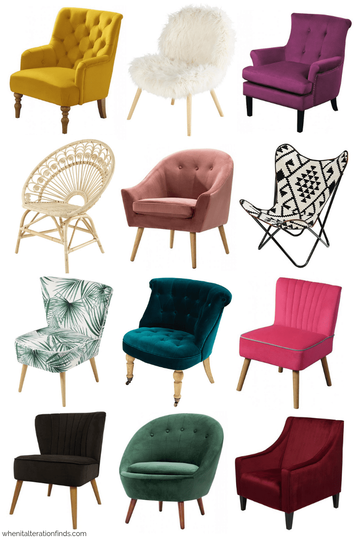 12 Fabulous Accent Chairs You Ll Love For Under 250 When It Alteration Finds Accent Chairs For Living Room Living Room Chairs Living Room Sofa Design