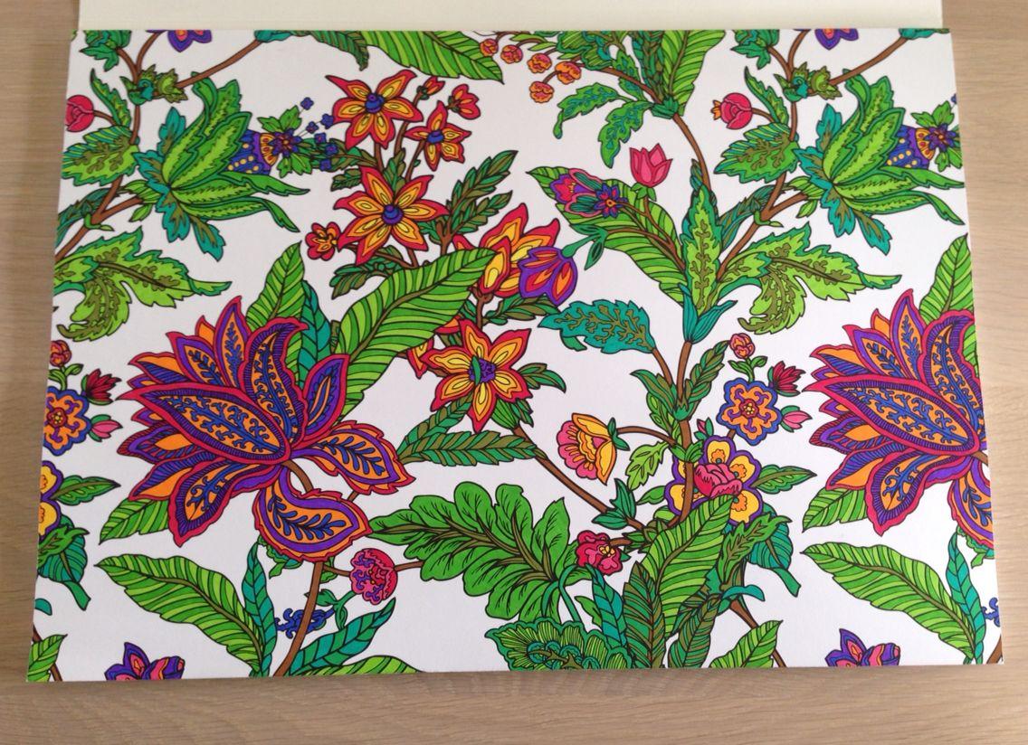 kleuren voor volwassenen kleurboek bloemen kruidvat