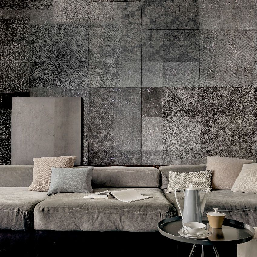 Wall And Deco Get The Look Concrete  Concrete Wallpaper And Squares