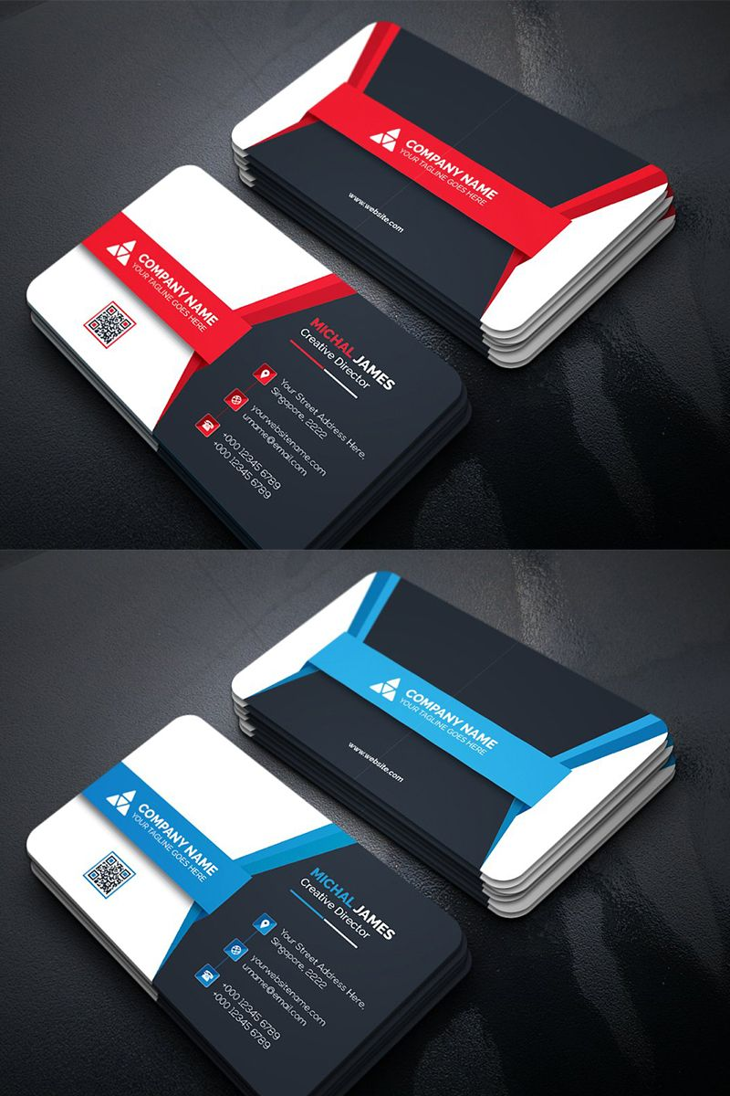 Modern Business Card Corporate Identity Template 96104 Business Cards Corporate Identity Modern Business Cards Business Card Design Creative