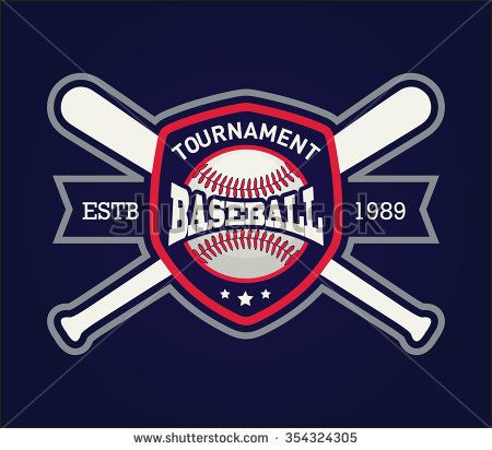 baseball logo template for sports team sports branding and fun