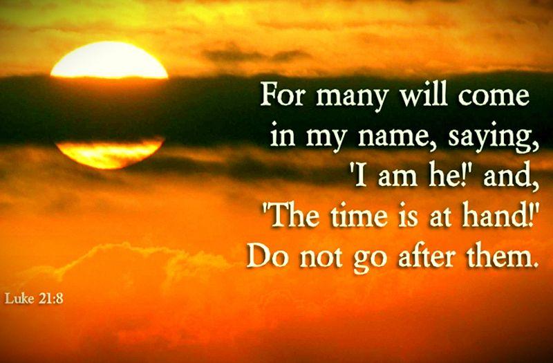 Kuvahaun tulos haulle Luke 21:8