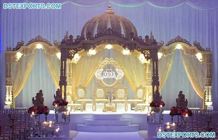 #Hindu #Wedding #Decoration #Dome #Mandap #UK