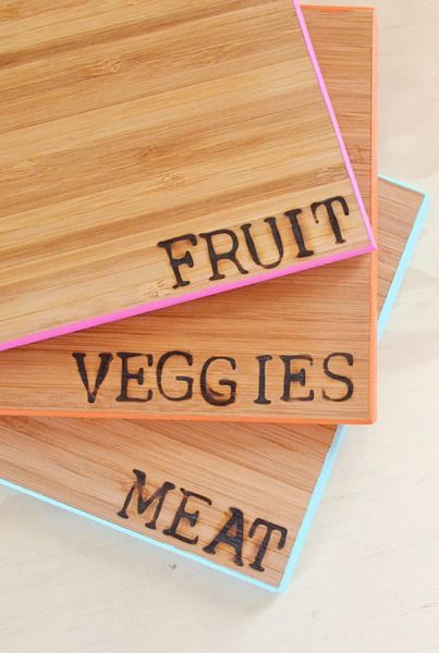 15 do it yourself hacks and clever ideas to upgrade your kitchen 9 dont cross contaminate your food make these diy color coded cutting boards instead solutioingenieria Images