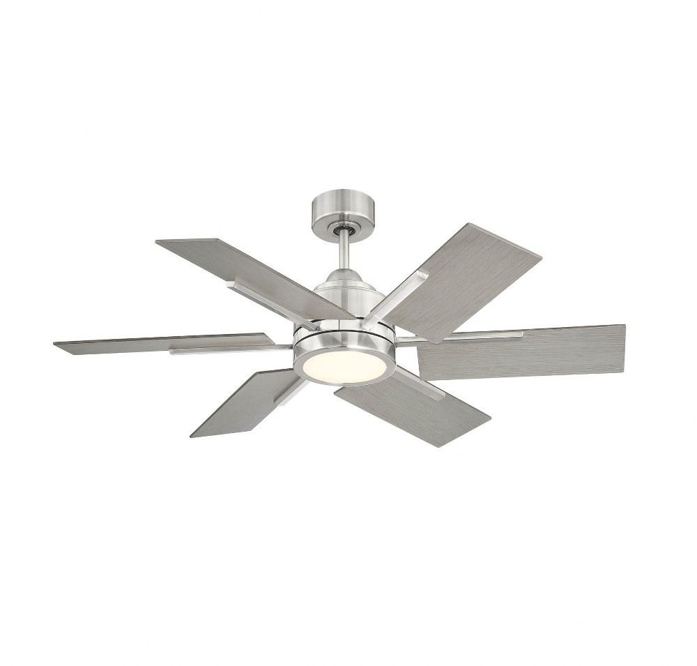 Meadow View 44 Inch Ceiling Fan With Light Kit Brushed Pewter Finish With Grey Wood Blade Finish With White Fro In 2021 Led Ceiling Fan Gray Ceiling Fan Ceiling Fan