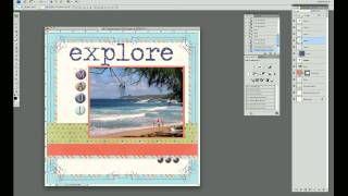 Digital Scrapbook Tutorial stickers - YouTube