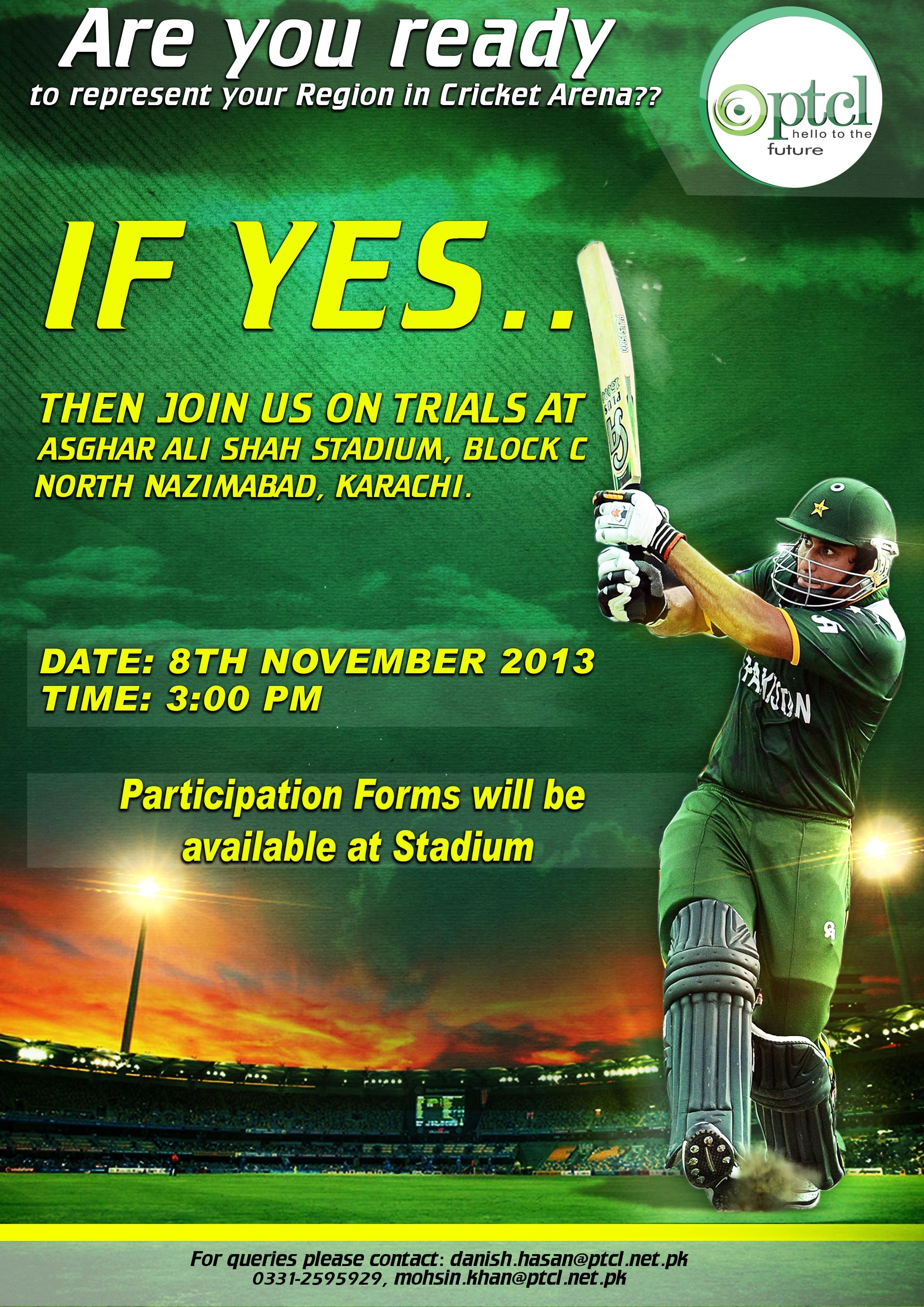 Poster 02 Ptcl Cricket Tournament Pinterest Cricket