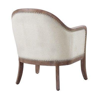 Best Farmhouse Style Beige Accent Chair Beige Pulaski 400 x 300