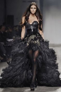 Black swan inspired prom dress
