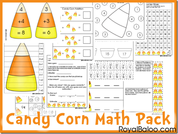 Juicy Candy Corn Math Pack For Addition Estimation Etc Royal Baloo Math Printables Free Math Printables Free Math