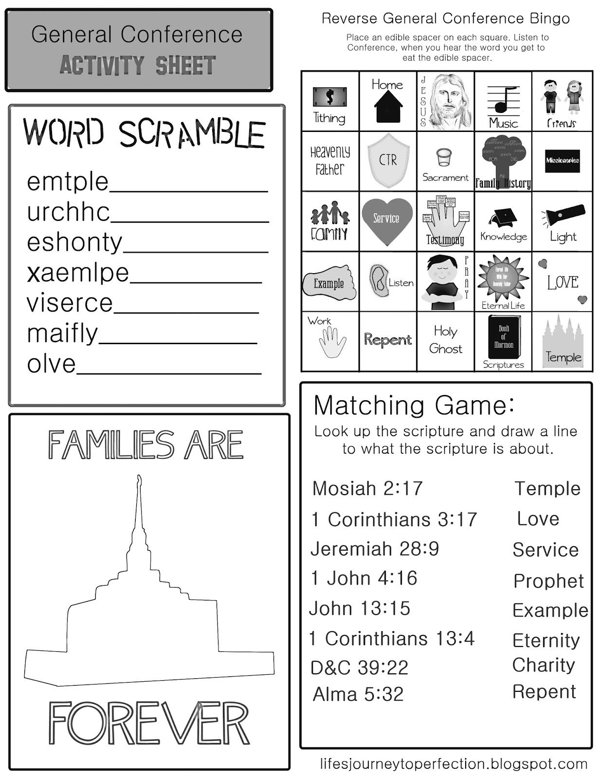 Lds General Conference Preparation And Printables With