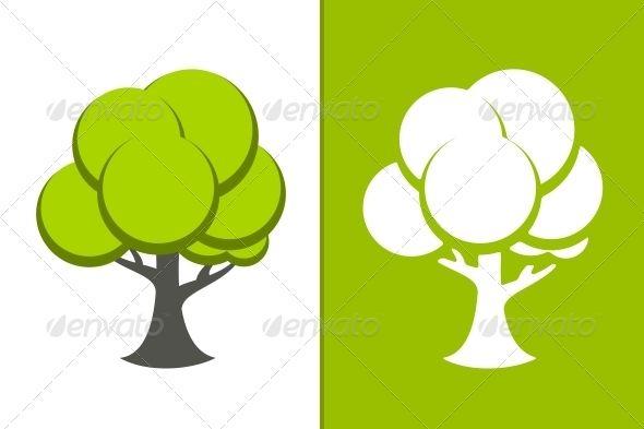 Green Trees, Tree Icon, Vector Trees