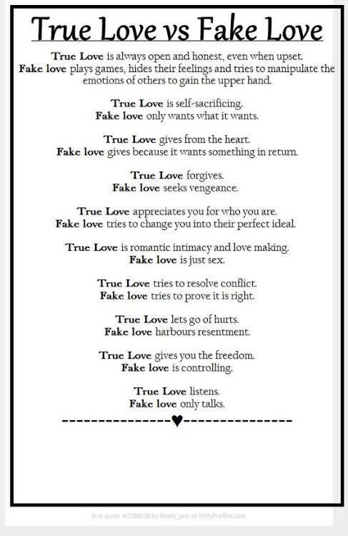 the true love test