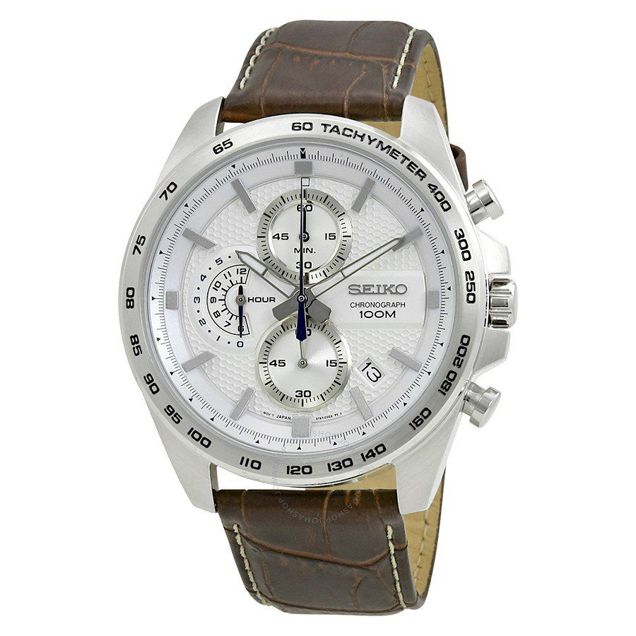 Seiko Chronograph White Dial Brown Leather Men S Watch Ssb263p1 Mens Watches Leather Watches For Men Chronograph