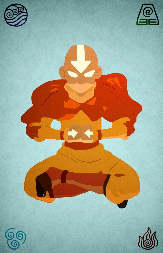Avatar The Last Airbender Minimalist Aang Poster Avatar The Last Airbender Art The Last Airbender Avatar The Last Airbender