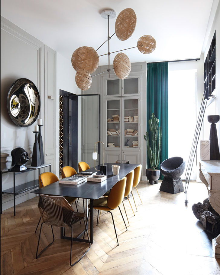 Stunning Modern Apartment In Lyon Scandinavian Dining Room