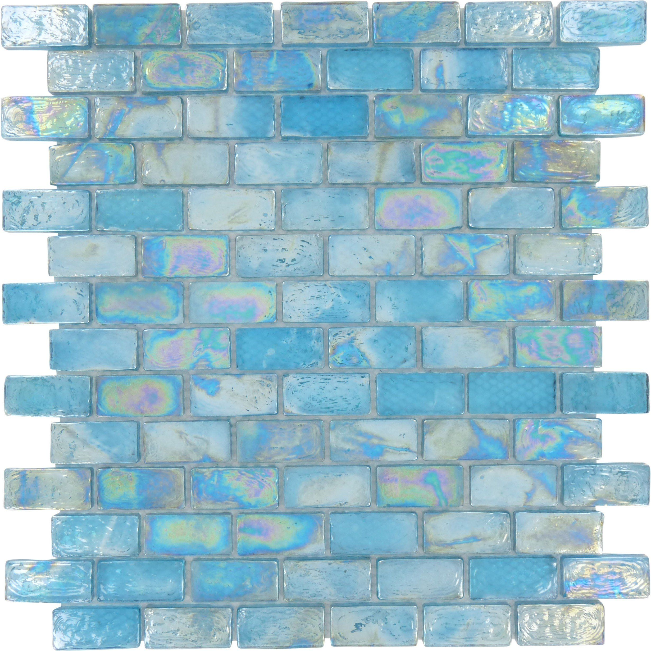 Sheet Size 12 X 12 Tile Size 3 4 X 1 1 2 Tiles Per Sheet 98 Tile Thickness 1 4 Grout Joints 1 8 She Iridescent Glass Tiles Sea Glass Tile Aqua Tiles