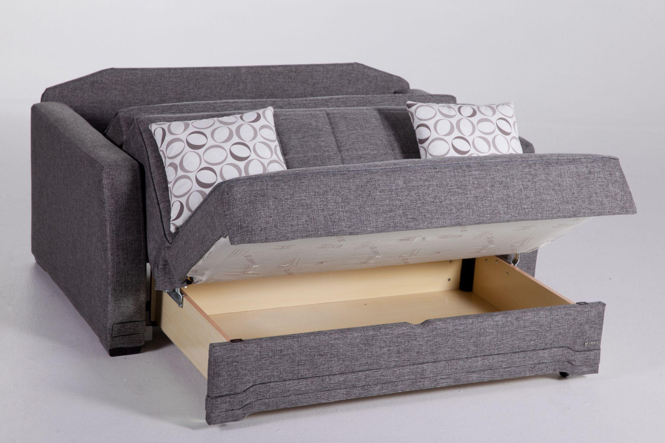 Valerie Diego Gray Loveseat Sleeper By Istikbal Furniture Sofa