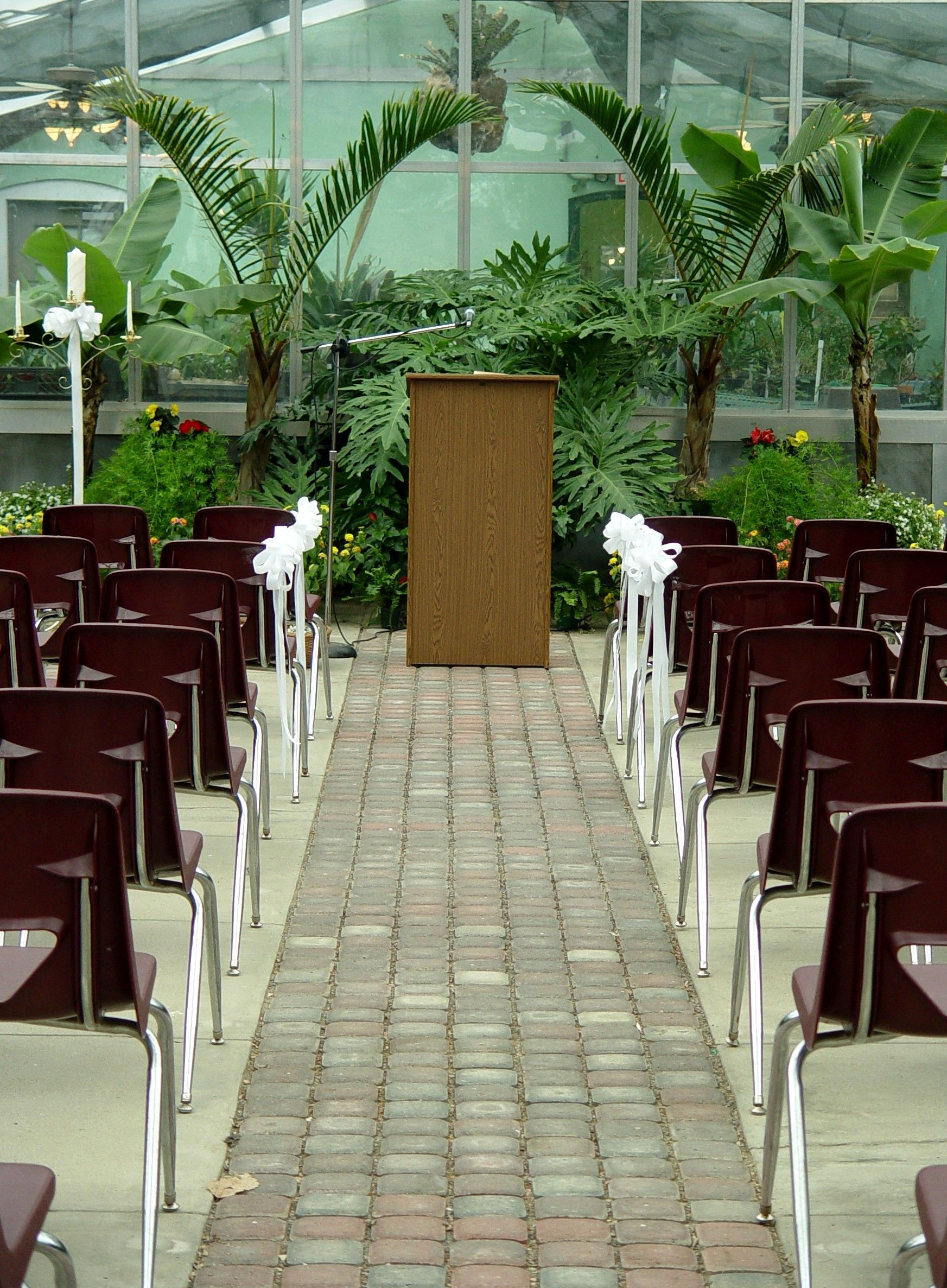 Have your ceremony at the Greenhouse Building at