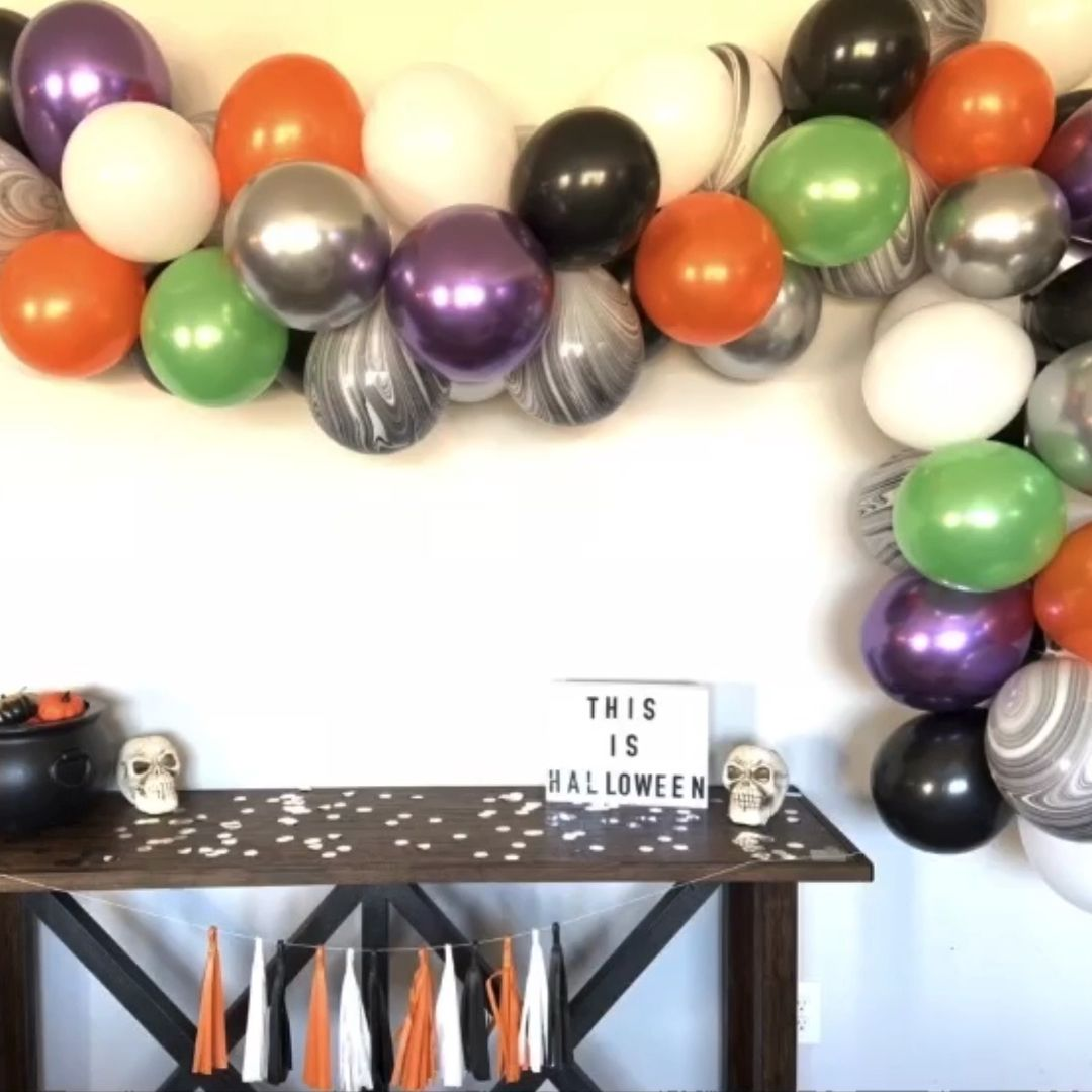 Halloween Balloon Garland DIY Balloon Arch This Is Halloween Party Decor Etsy
