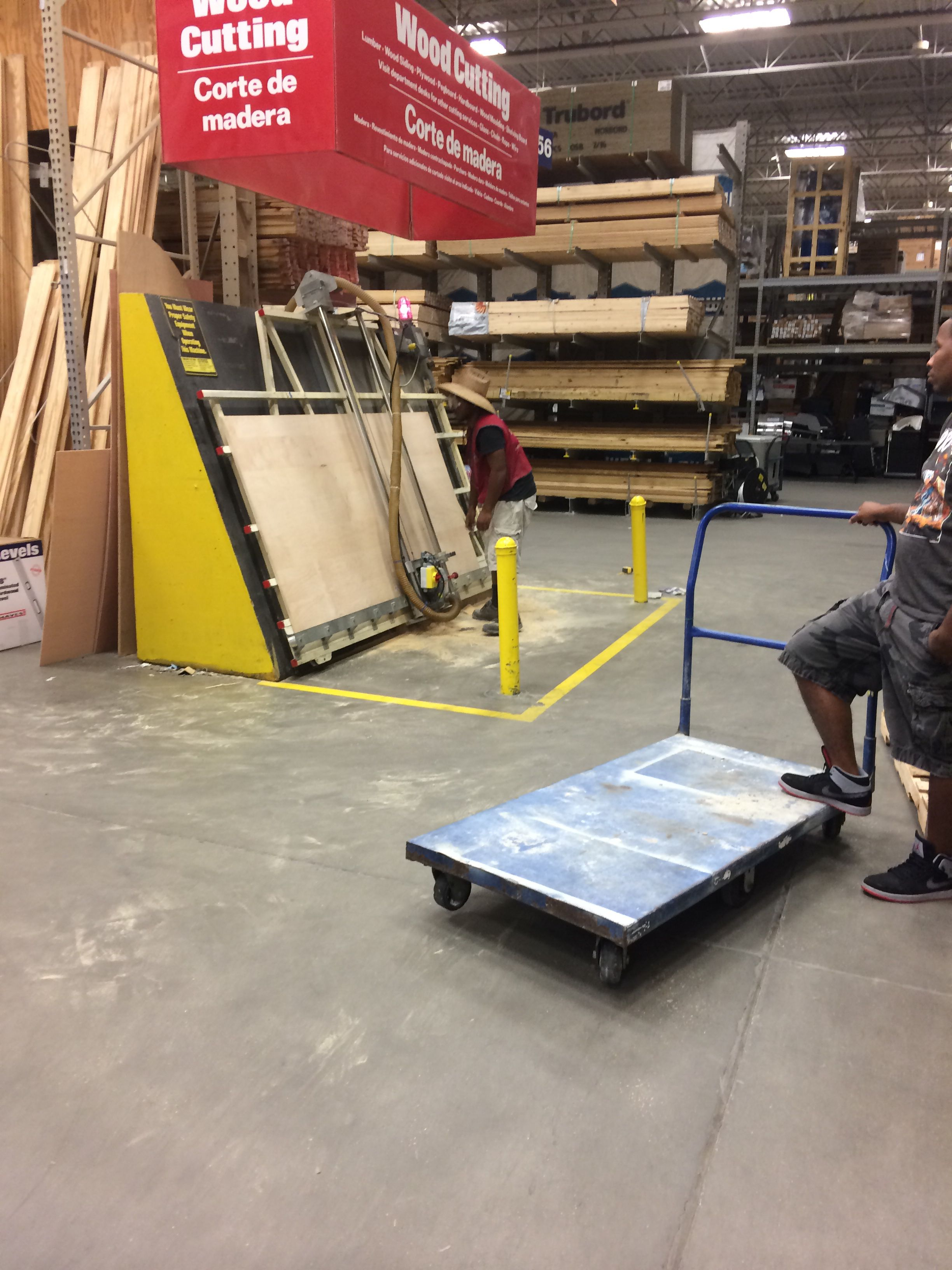 At lowes getting my ply wood cut down to 30x58 | Craft Desk walmart ...